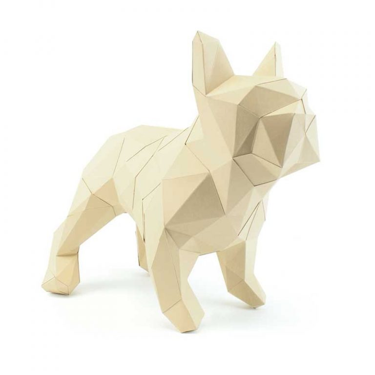 3D paper bulldog