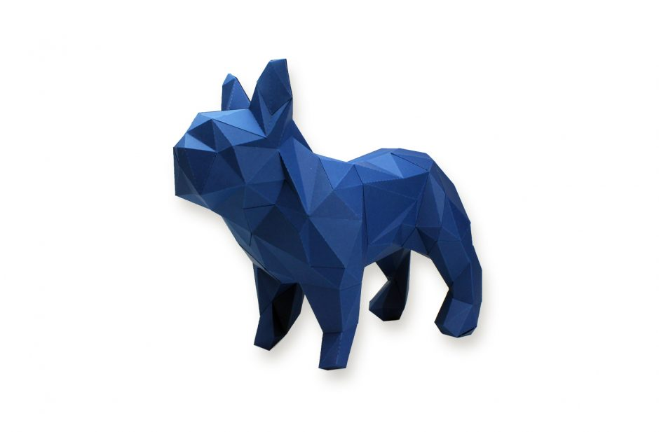 Bouledogue en papier 3D