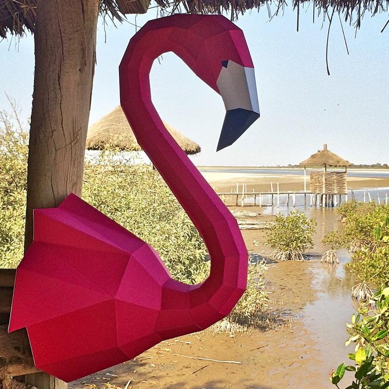 Papercraft Flamingo 3D-Papier-Handwerk-Skulptur Tier Kopf | Etsy | 800x800