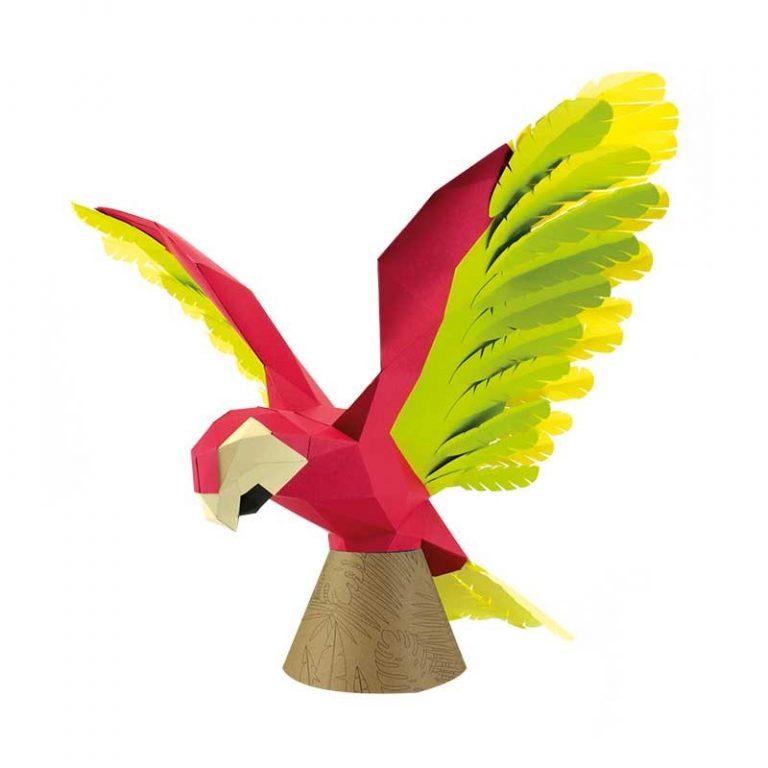 Perroquet en papier 3D
