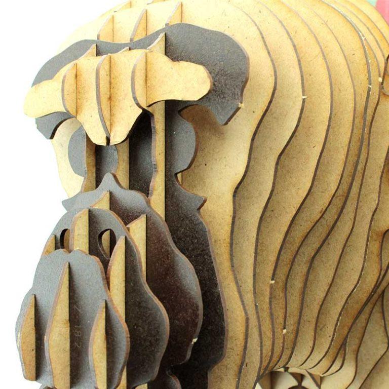 Trophée singe en bois Hawaikiki