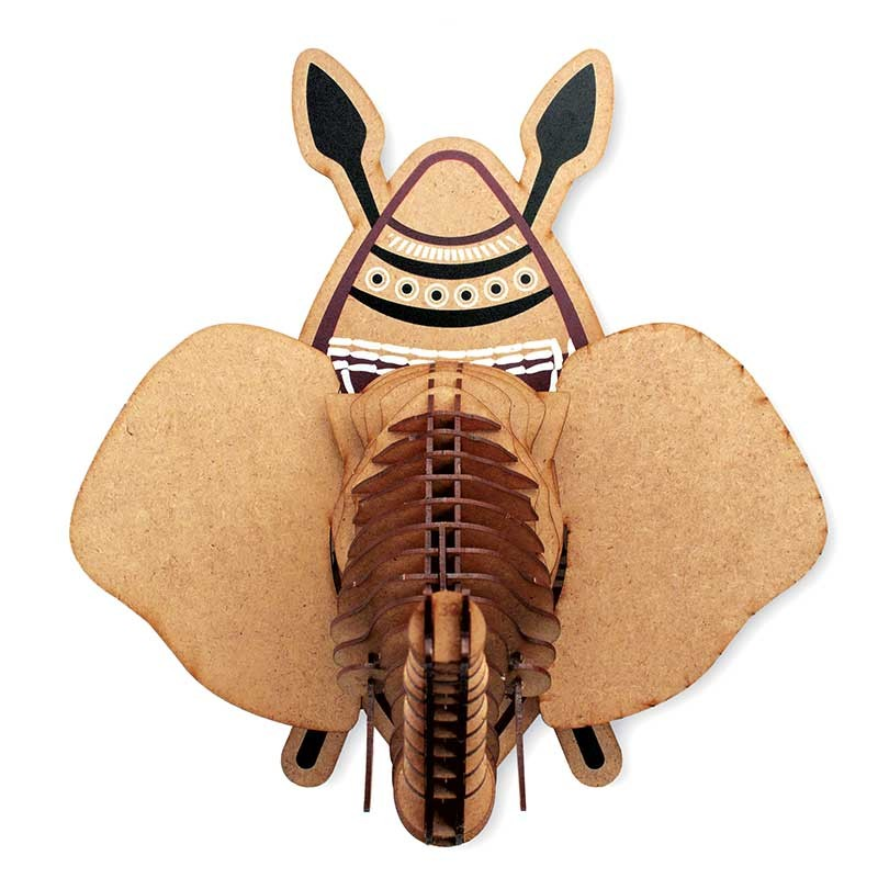 Trophée éléphant en bois Tembo