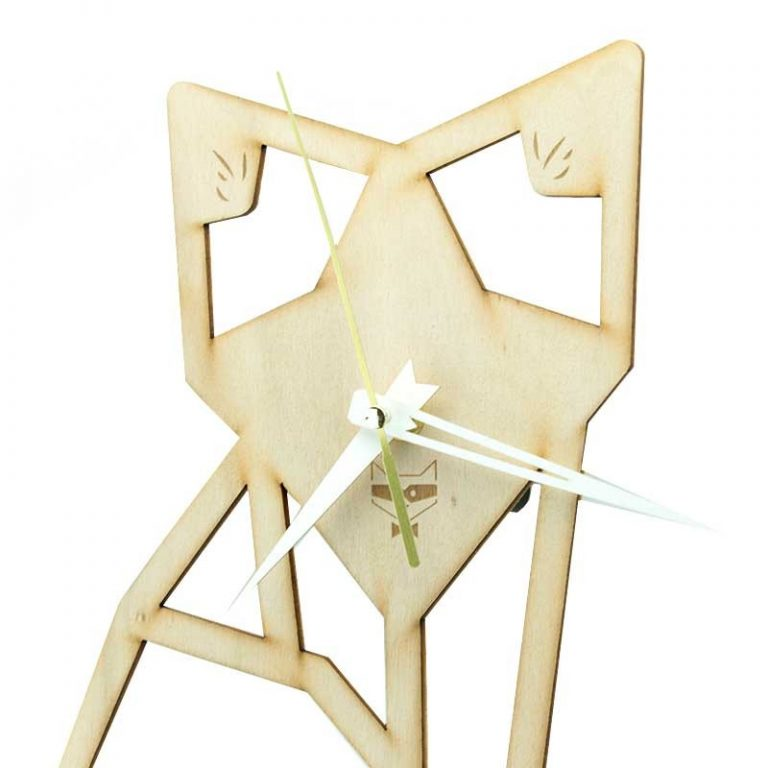 Horloge en bois Maître Renard