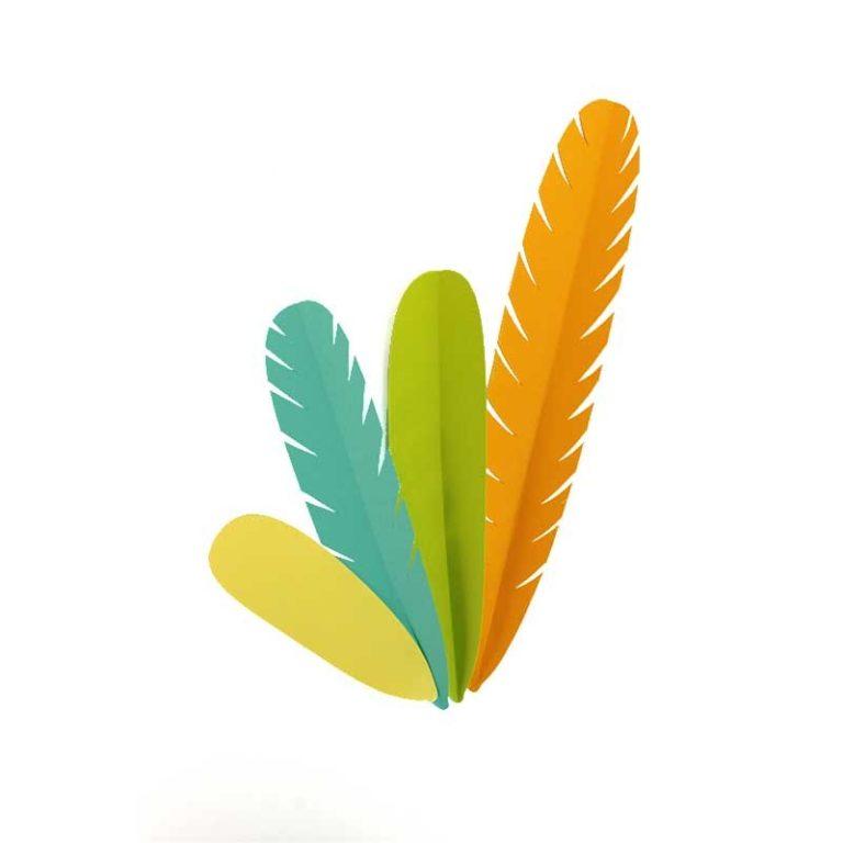 Kits de plumes en papier