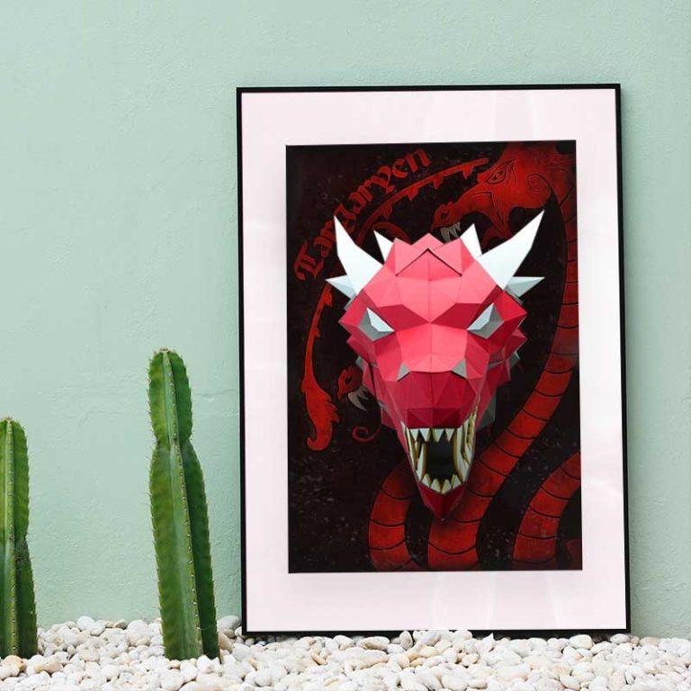 3D paper dragon