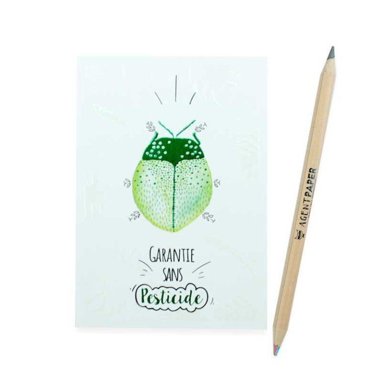 Carte postale Insecte pesticide
