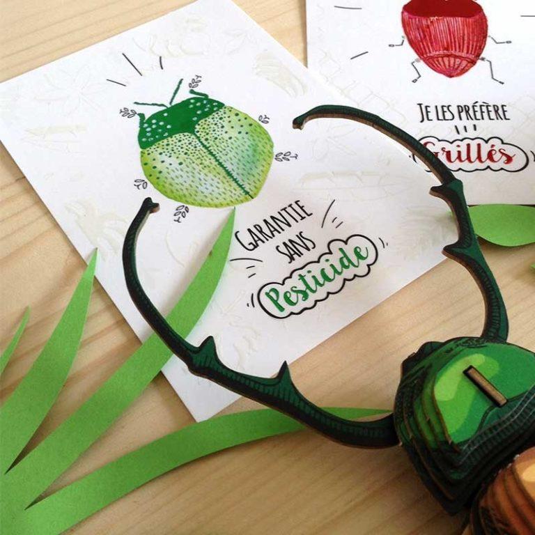 Bug pesticide postcard