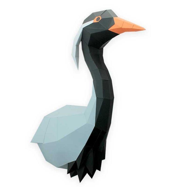 3D paper crane