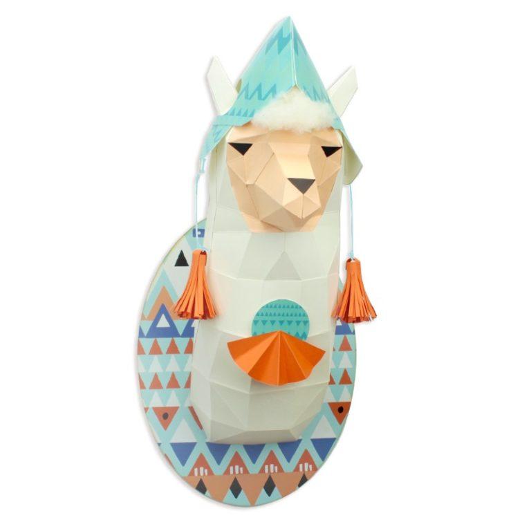 3D paper llama