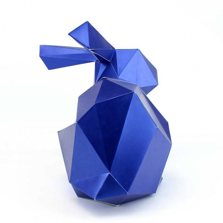 Grand lapin en papier 3D