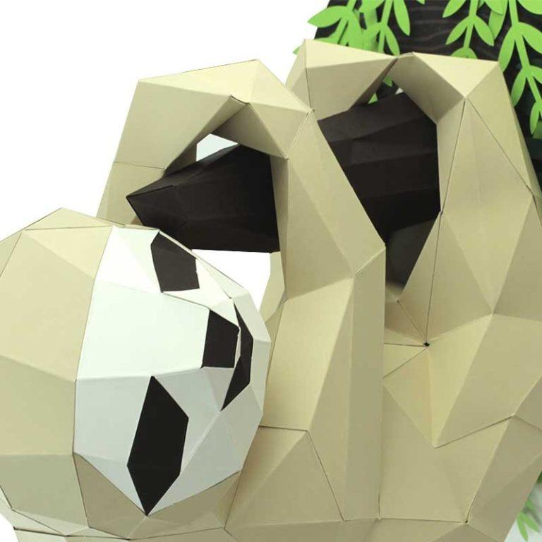 Paresseux en papier 3D