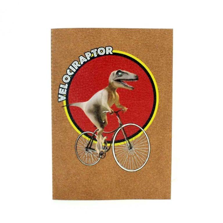 Carnet cuir Vélociraptor