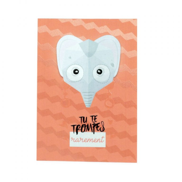 Affiche mini trophée Éléphant