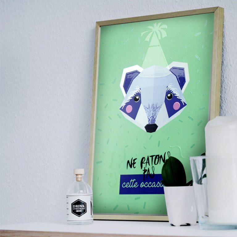 Affiche mini trophée Raton