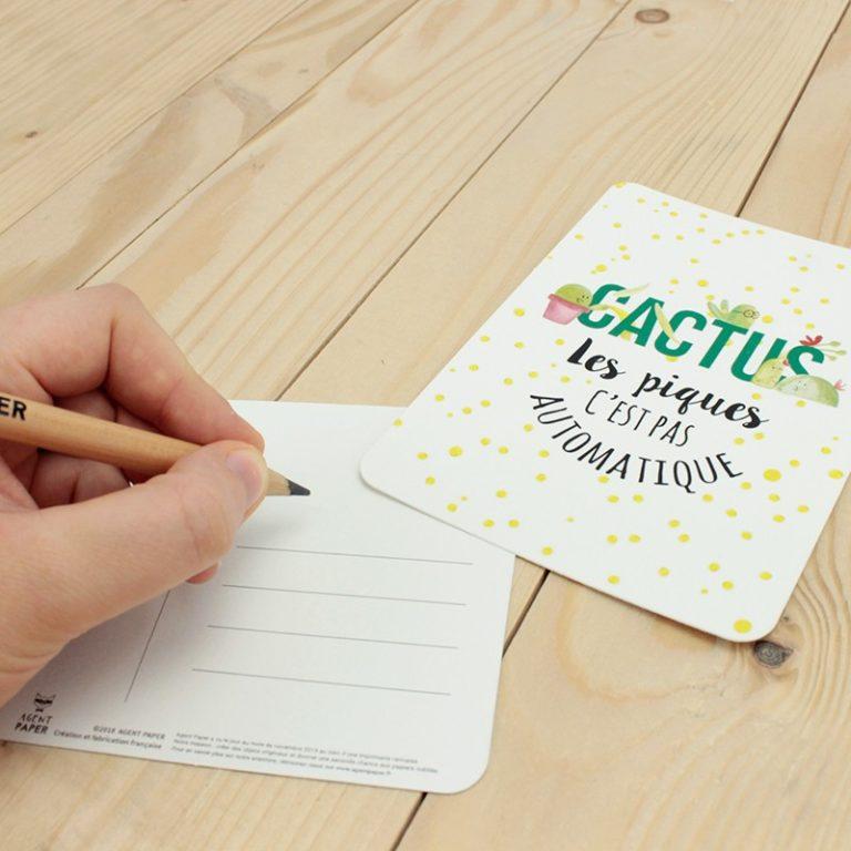 """""""Automatique"""" cactus postcard"""