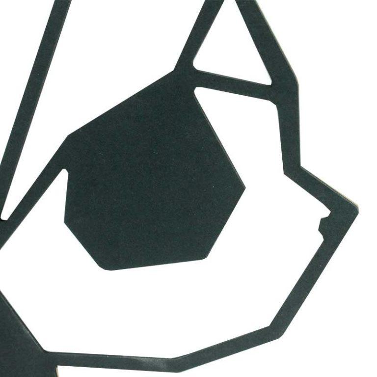 Geometric panda trophy