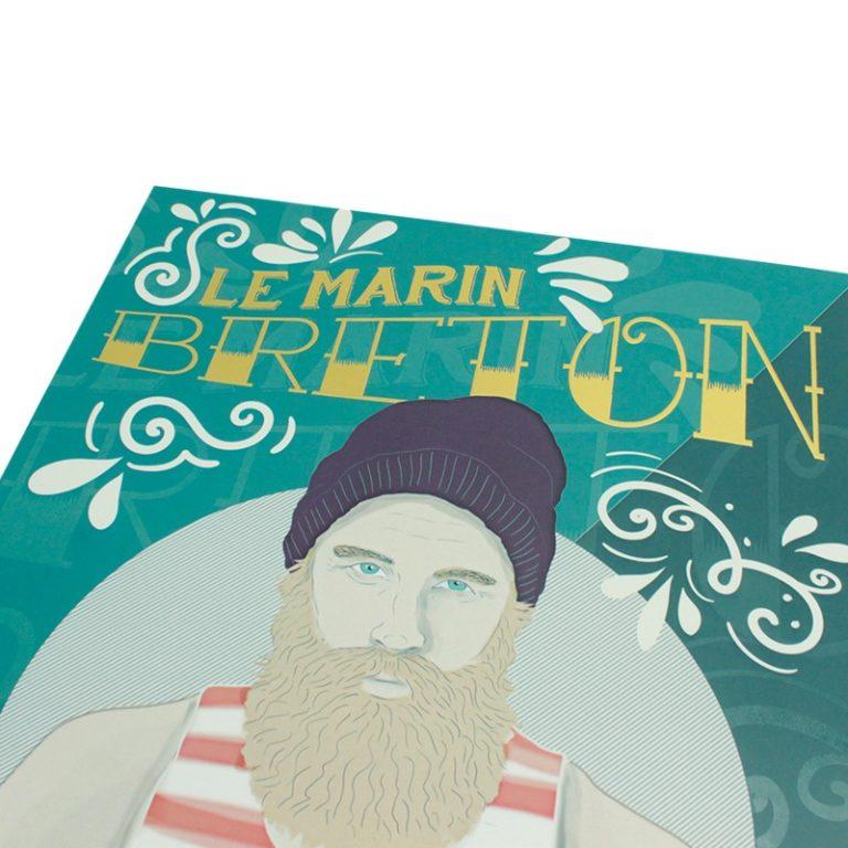 Affiche A3 Marin Breton