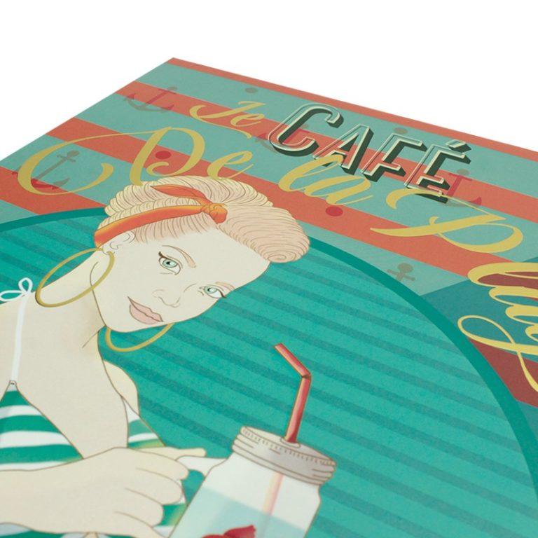 Affiche A3 Café de la plage