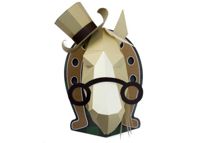 Cheval en papier 3D 7 3760271838593