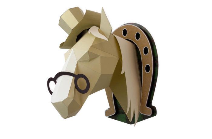Cheval en papier 3D 2 3760271838593