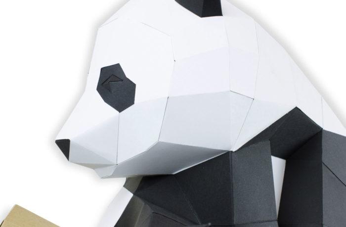 Grand panda sur branche en papier 3D 3 3760271838067