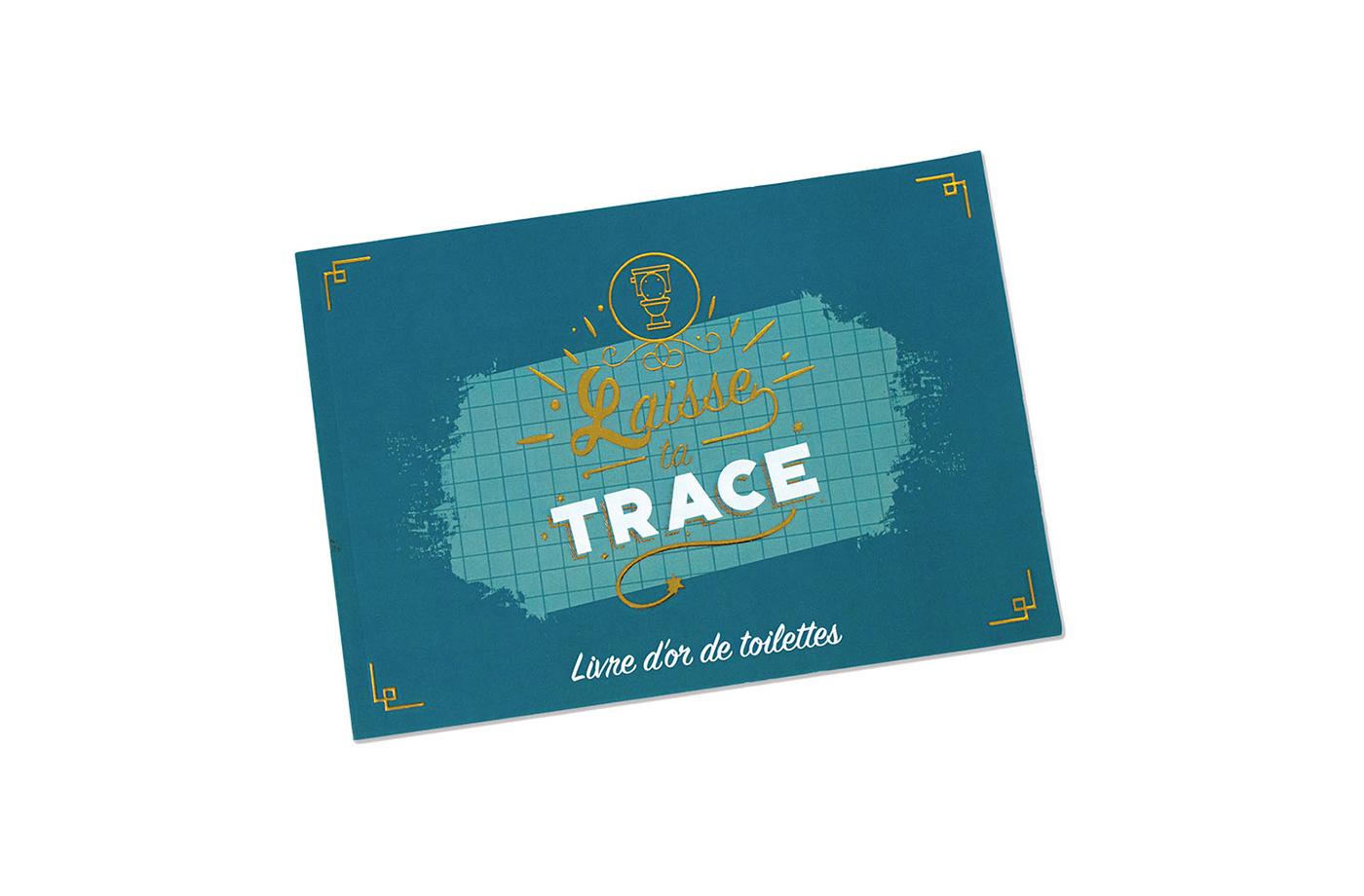 """Livre d'or toilette """"Laisse ta trace"""" 6 3760271838074"""