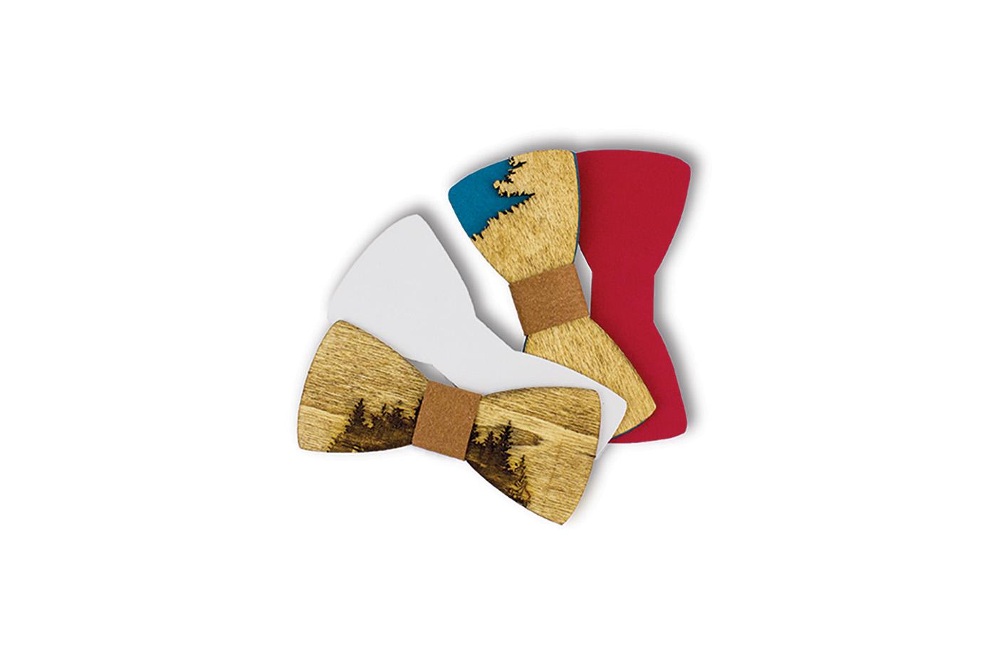 Noeud papillon en bois 13 3760271838777