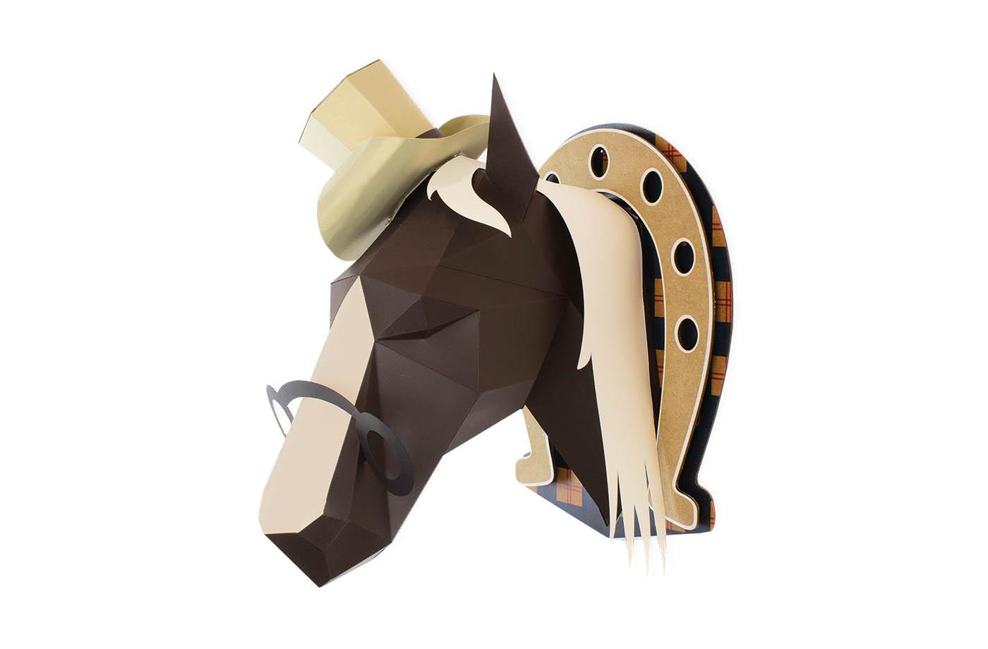 Cheval en papier 3D 9 3760271838593