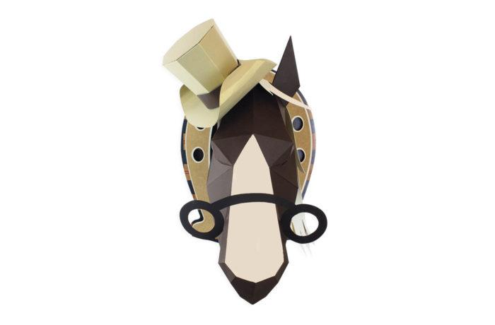Cheval en papier 3D 3 3760271838593