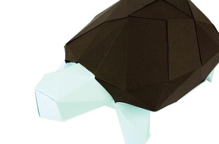 Tortue en papier 3D 8 3760271839651