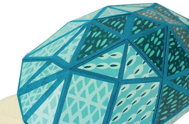 Tortue en papier 3D 5 3760271839651