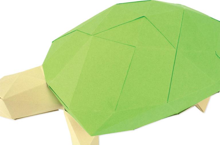 Tortue en papier 3D 2 3760271839651