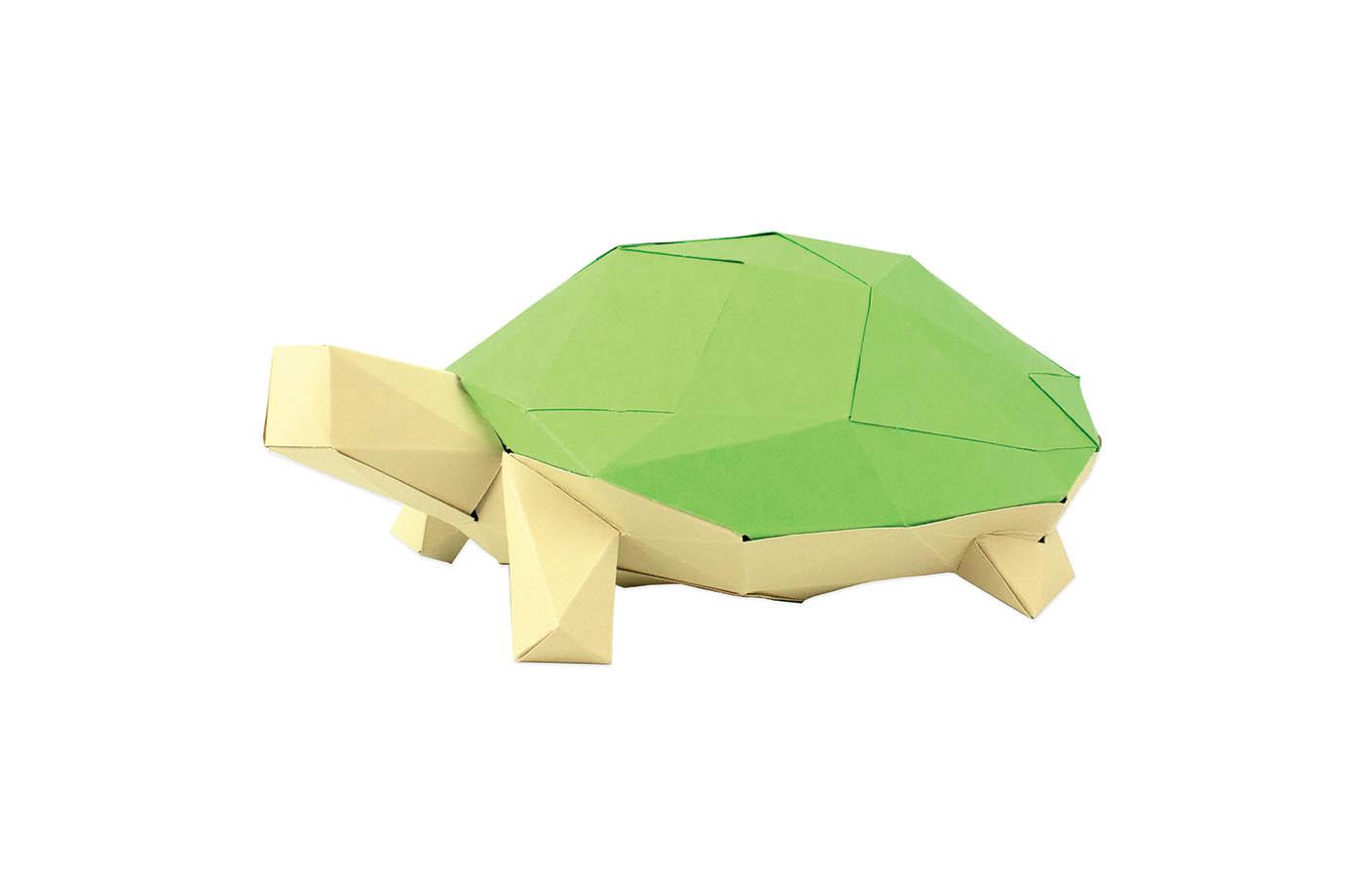 Tortue en papier 3D 13 3760271839651