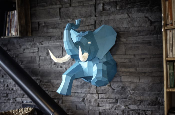 3D paper elephant 8