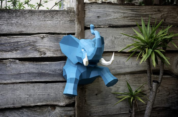 Elephant en papier 3D 4 3701310203729
