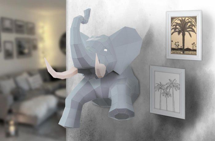 3D paper elephant 16