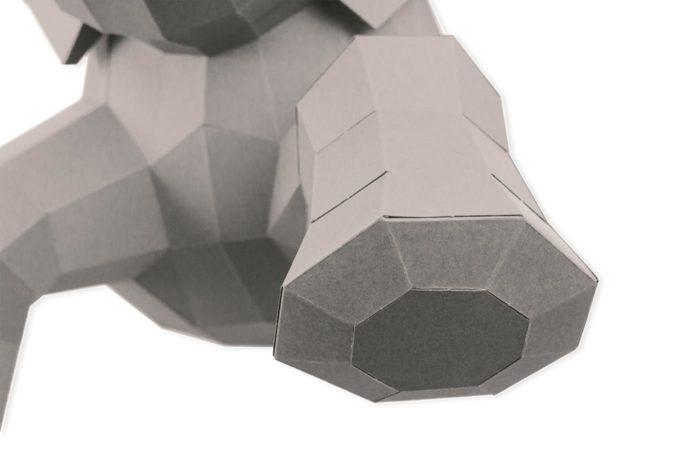 Elephant en papier 3D 18 3701310203729