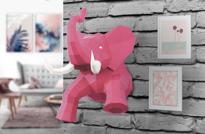 Elephant en papier 3D 10 3701310203729
