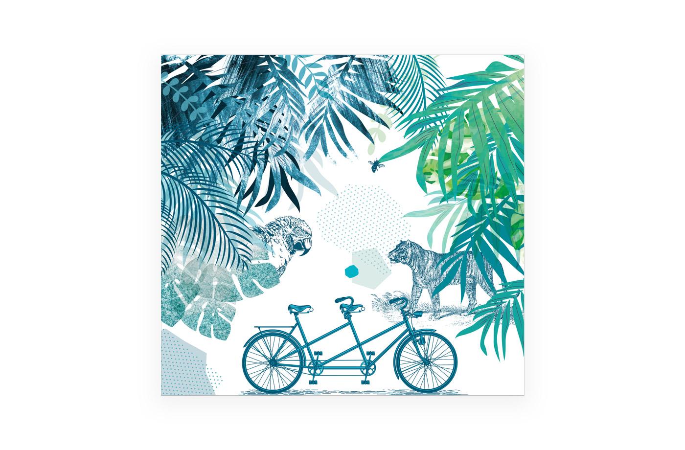 Tapisserie panoramique Jungle 3 3701310201718