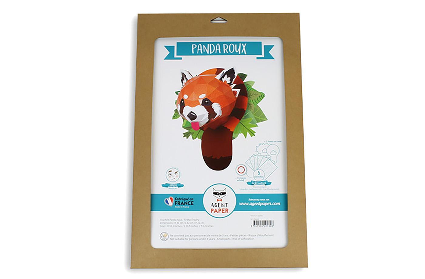 3D paper red panda - Agent Paper | 920x1400