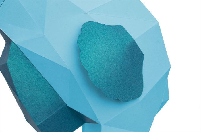 Hippocampe en papier 3D 3 3701310202272