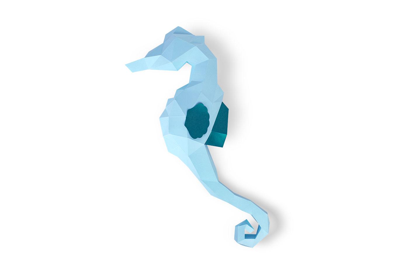 Hippocampe en papier 3D 7 3701310202272