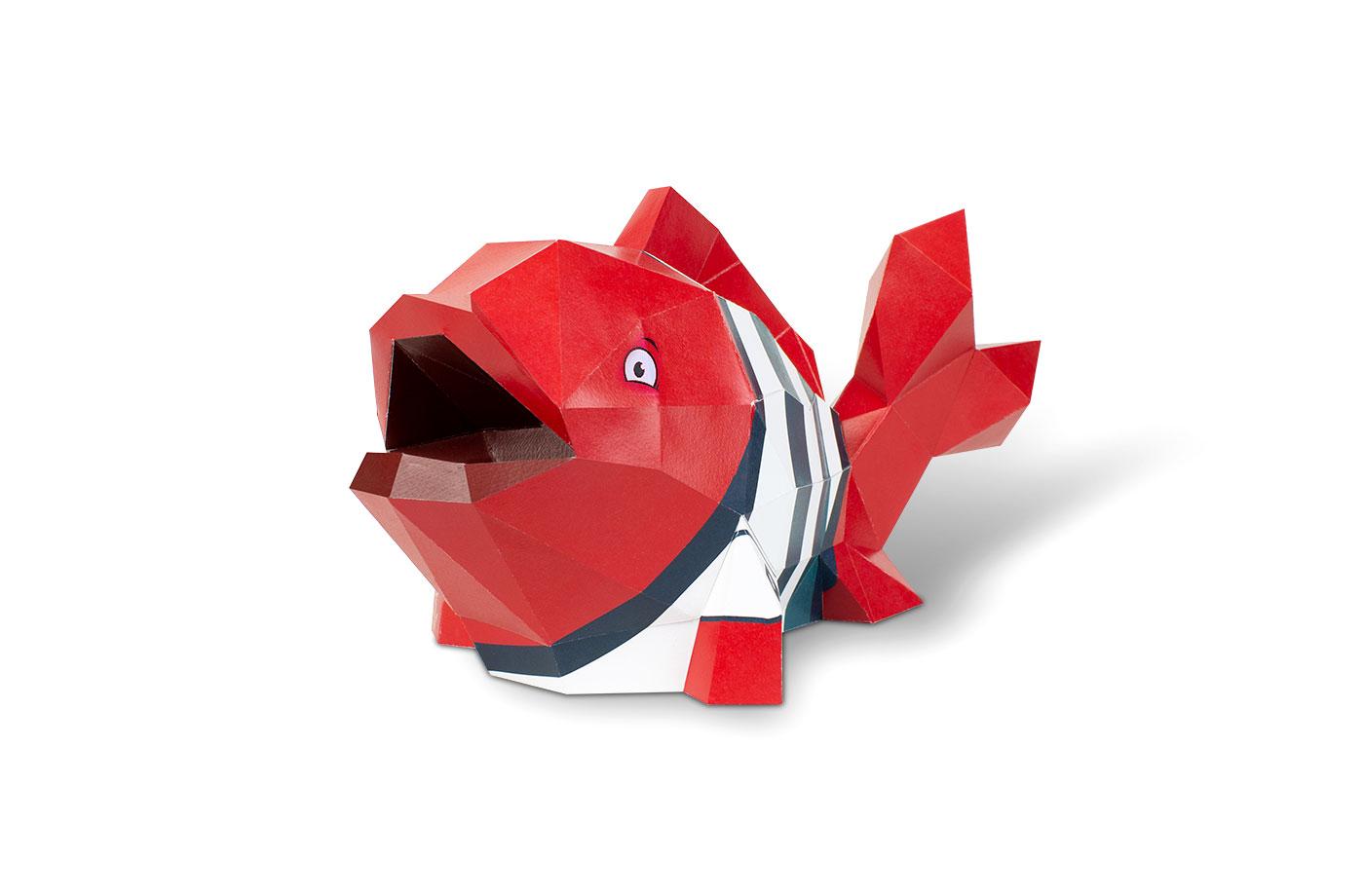 Poisson en papier 3D 8 3701310201541