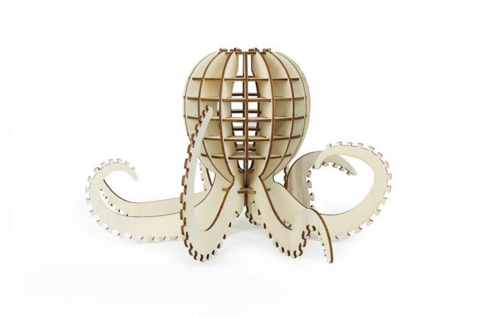Wooden octopus 1