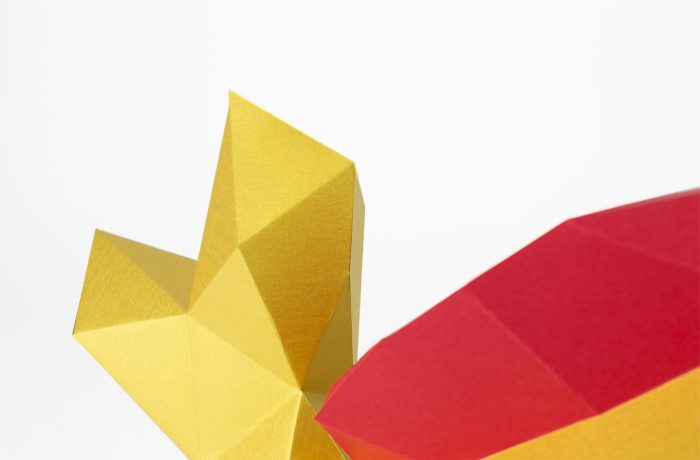 3D paper golden fish 5