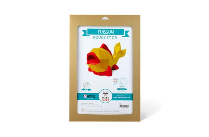 3D paper golden fish 3