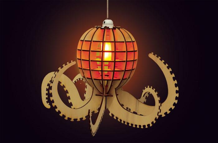 Wooden octopus 3