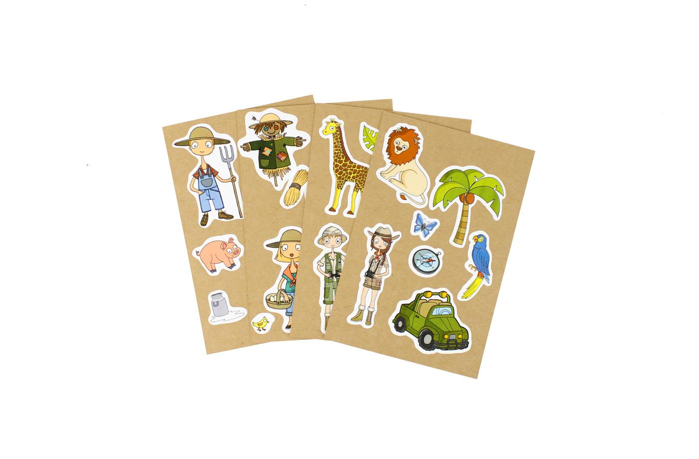 4 Cartes à Sticker 13 3701310203231