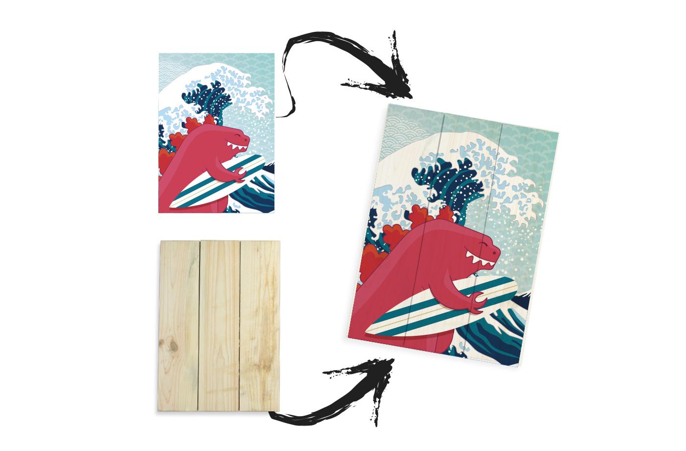 Tableau bois impression personnalisée 2 3701310203439