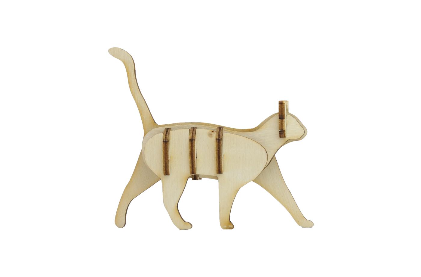 p'tit bidule : chat en bois